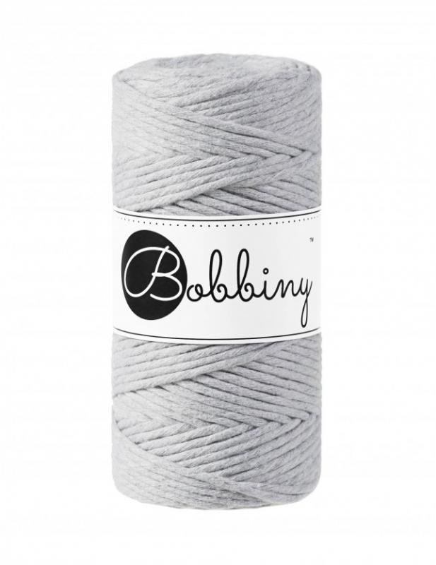 BOBBINY Macramé cord 3 mm  Šedá Light Grey
