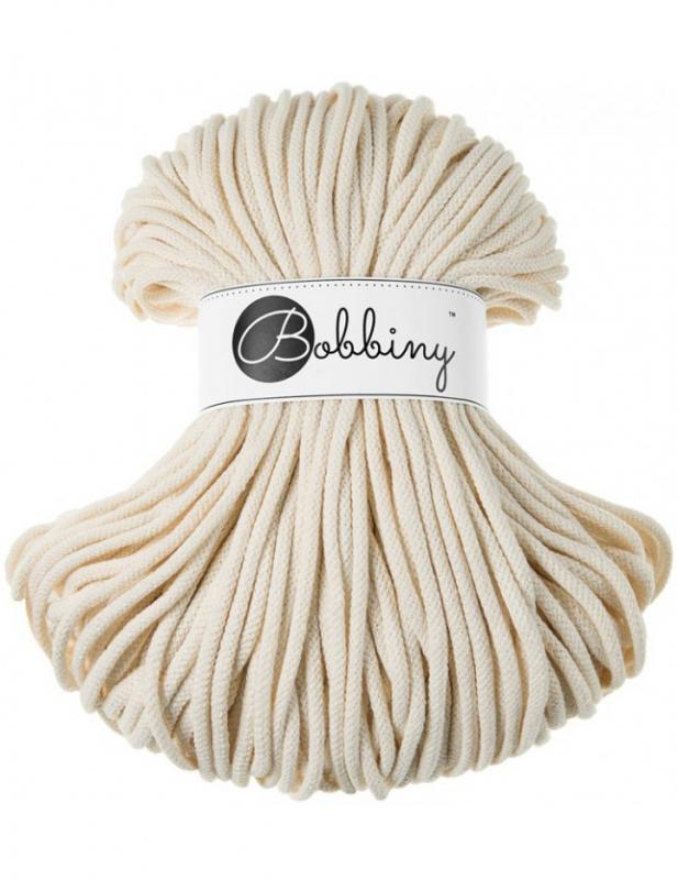 Bobbiny PREMIUM cord 5 mm NATURAL  XX-0500